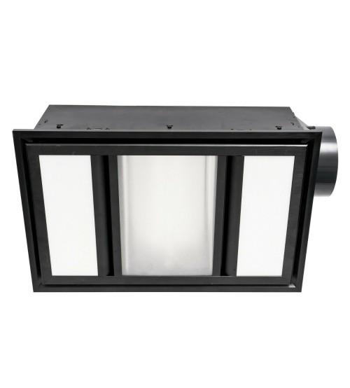 Mercator Domino Bathroom 3-In-1 Unit Heat, LED Light, Exhaust Fan - Black